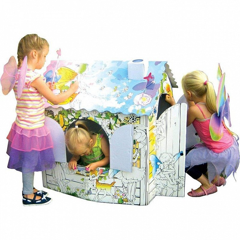Colour In Cardboard Fairy Playhouse - NOW ONLY £8.50