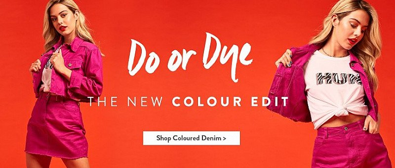 Shop the Coloured Denim Range from just £20.00!