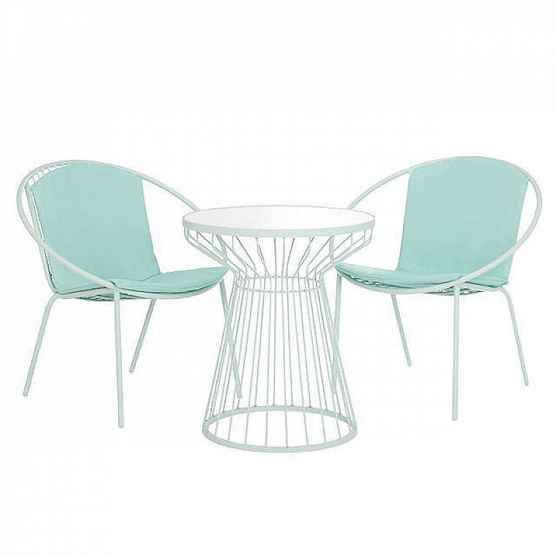 SAVE £69.00 - House by John Lewis Porto Bistro Garden Table and Chairs Set, Mint