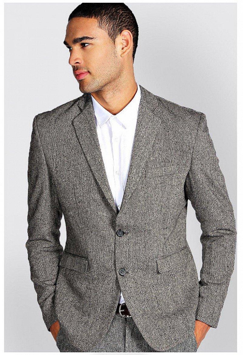 SALE Up to 70% OFF - Slim Fit Tweed Blazer