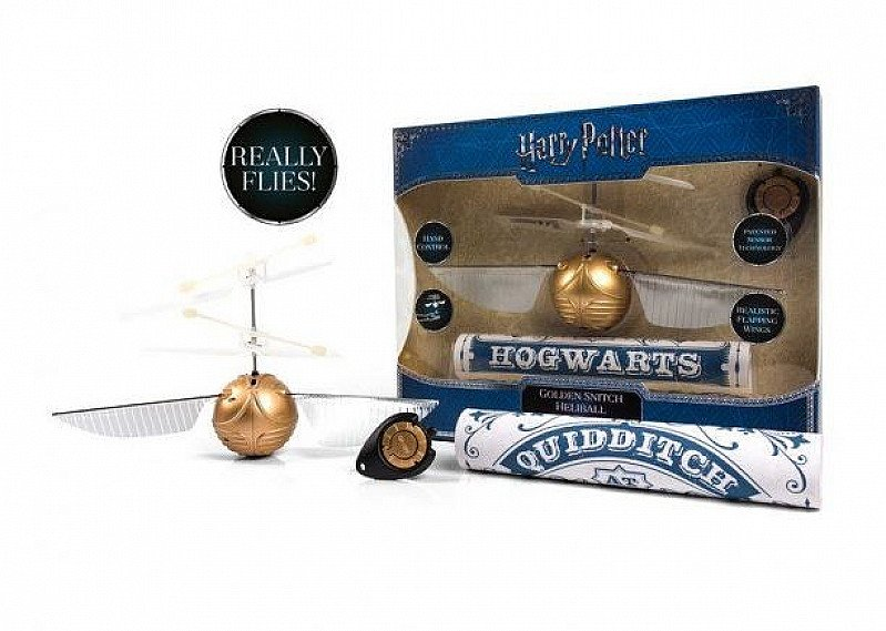 HARRY POTTER - FLYING GOLDEN SNITCH HELIBALL!