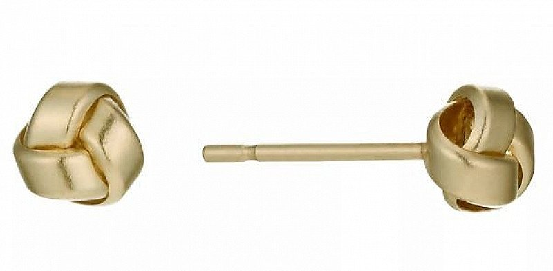 SAVE 17% OFF 9ct Yellow Gold Polished Knot Stud Earrings!
