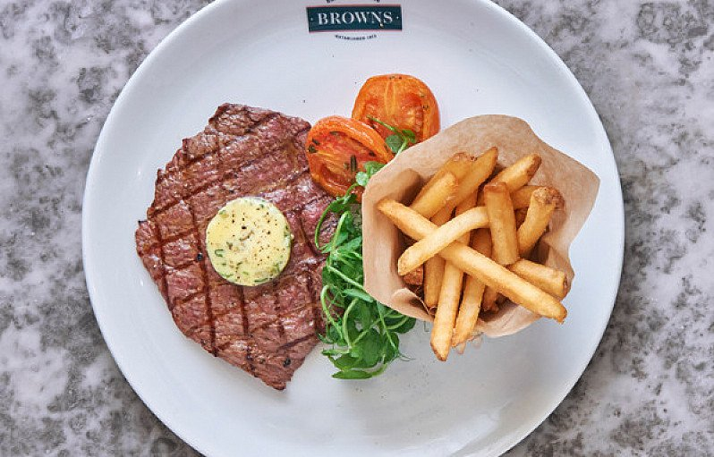 LUNCH or EARLY DINNER AT BROWNS - 2 Courses for £12.95, 3 Courses for £16.95!