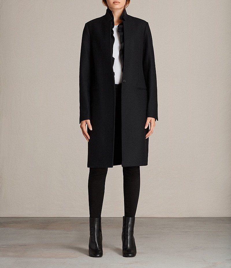 SAVE OVER 60% OFF ALL SAINTS MAE RUFFLE COAT!