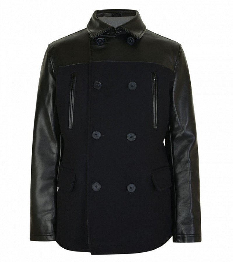 85% OFF - DKNY Leather Panel Coat - SAVE £595!