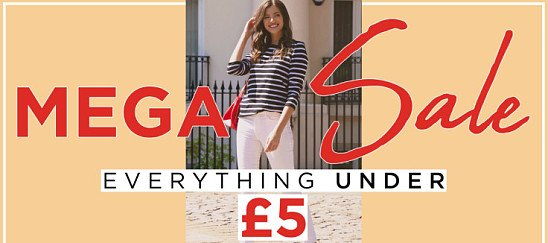 MEGA SALE - EVERYTHING £5 OR UNDER!