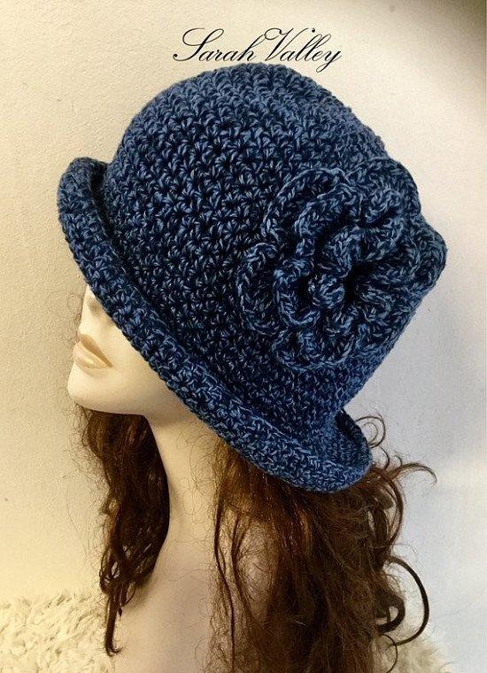 Get this crochet floppy brimmed hat