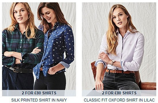 New Season Women's Shirts Now 2 For £80!
