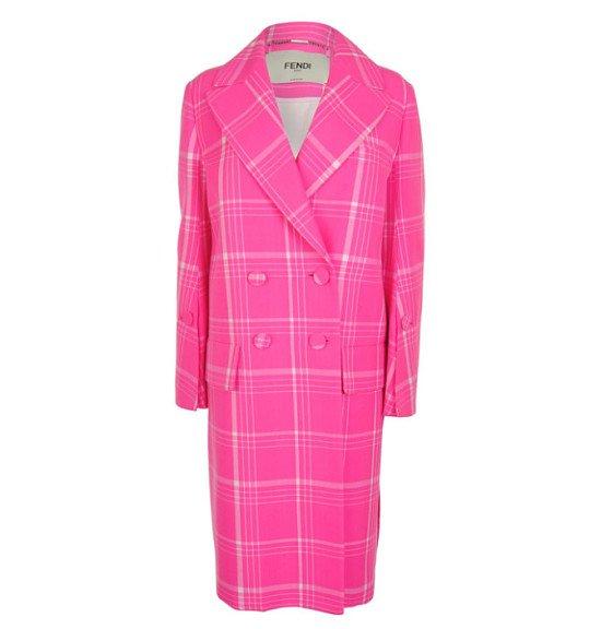 FENDI Tartan Coat - SAVE OVER £1600!