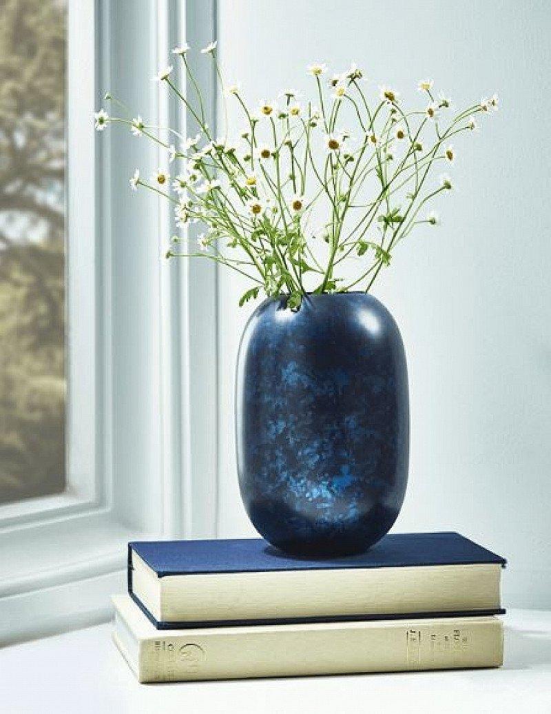 SAVE 50% OFF Blue Marbled Finish Vase!