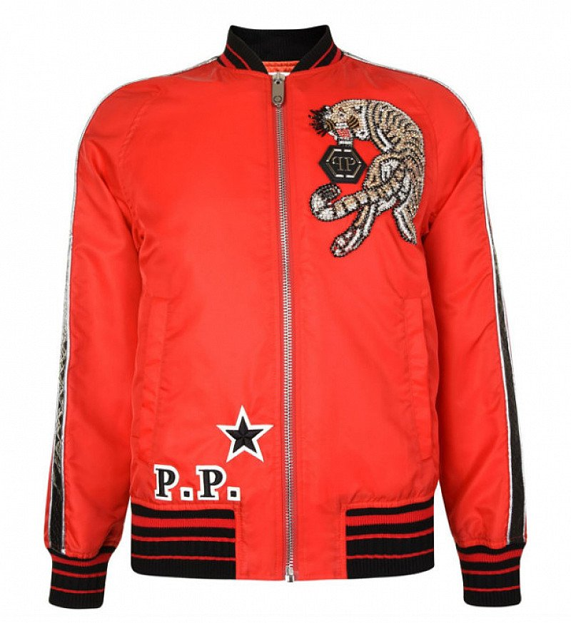 SAVE OVER £1300 on this PHILIPP PLEIN We Are One Bomber Jacket!