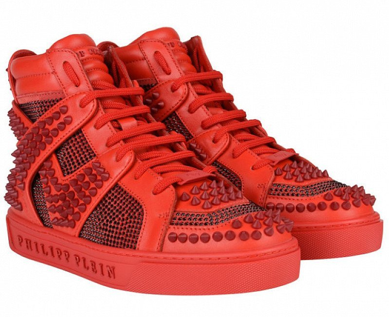 £1200 OFF - PHILIPP PLEIN Dont Wake Me Up High Top Trainers!