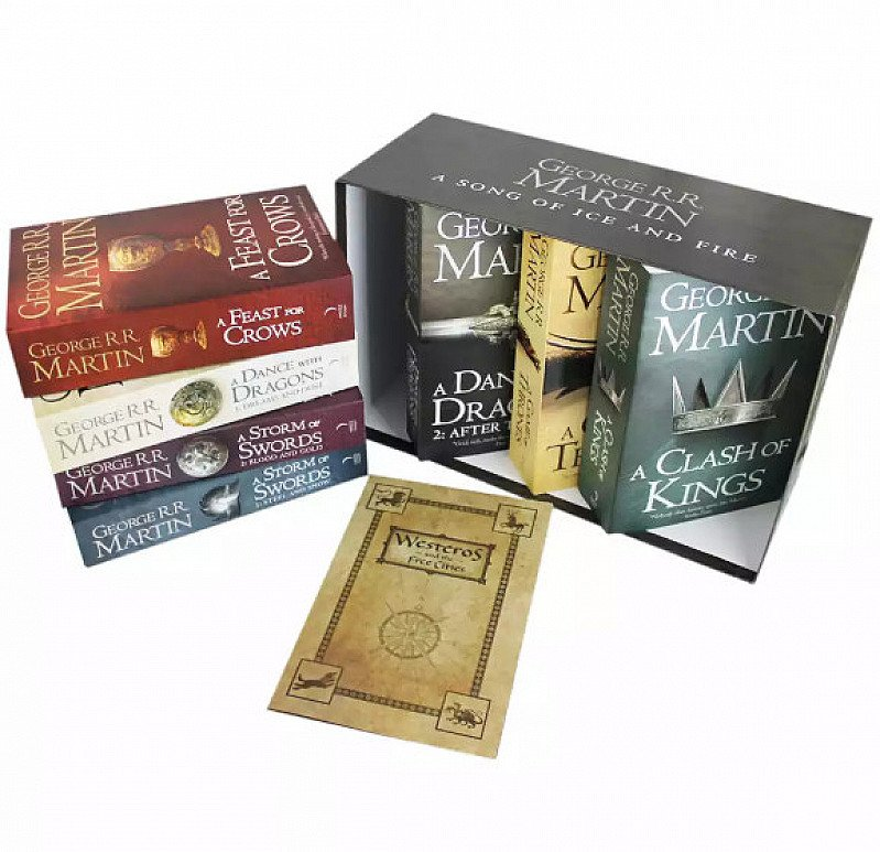 A Song Of Ice And Fire - Game Of Thrones - 7 Book Box Set - LESS THAN 1/2 PRICE!