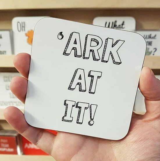 Shop our coasters... Just 'ark at it!