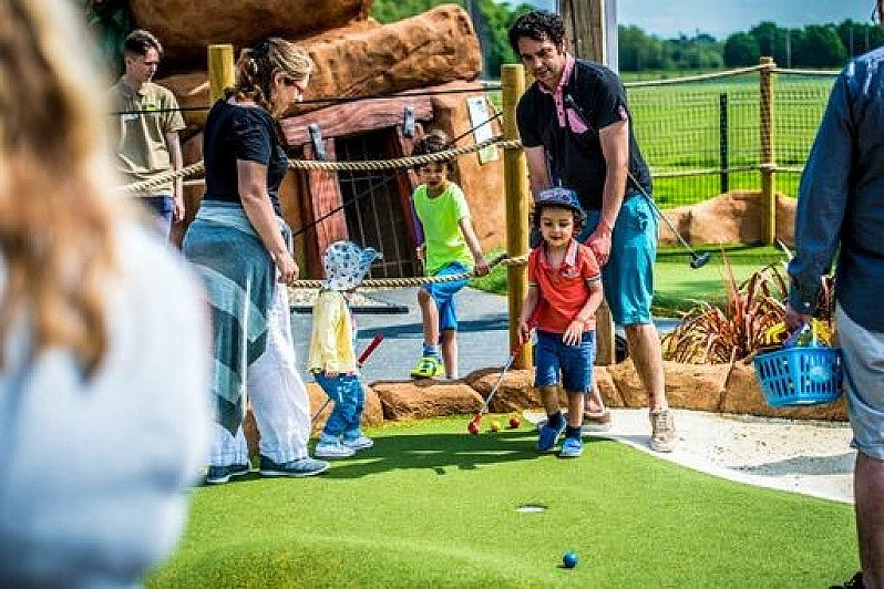 Get a family ticket for a game of mini golf for £20