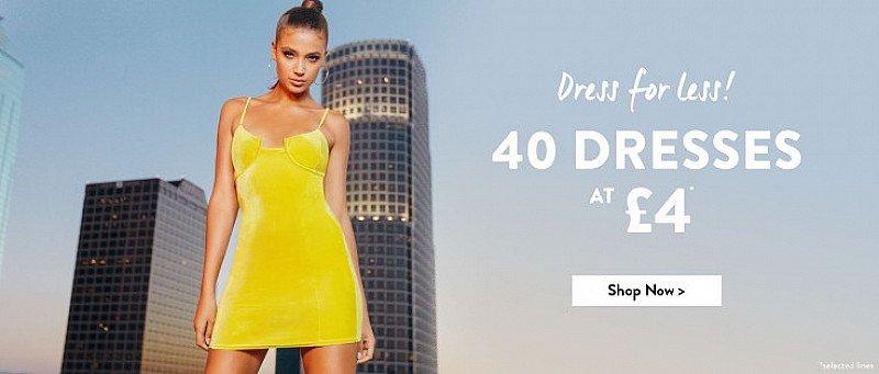 Shop 40 Dresses at £4.00!