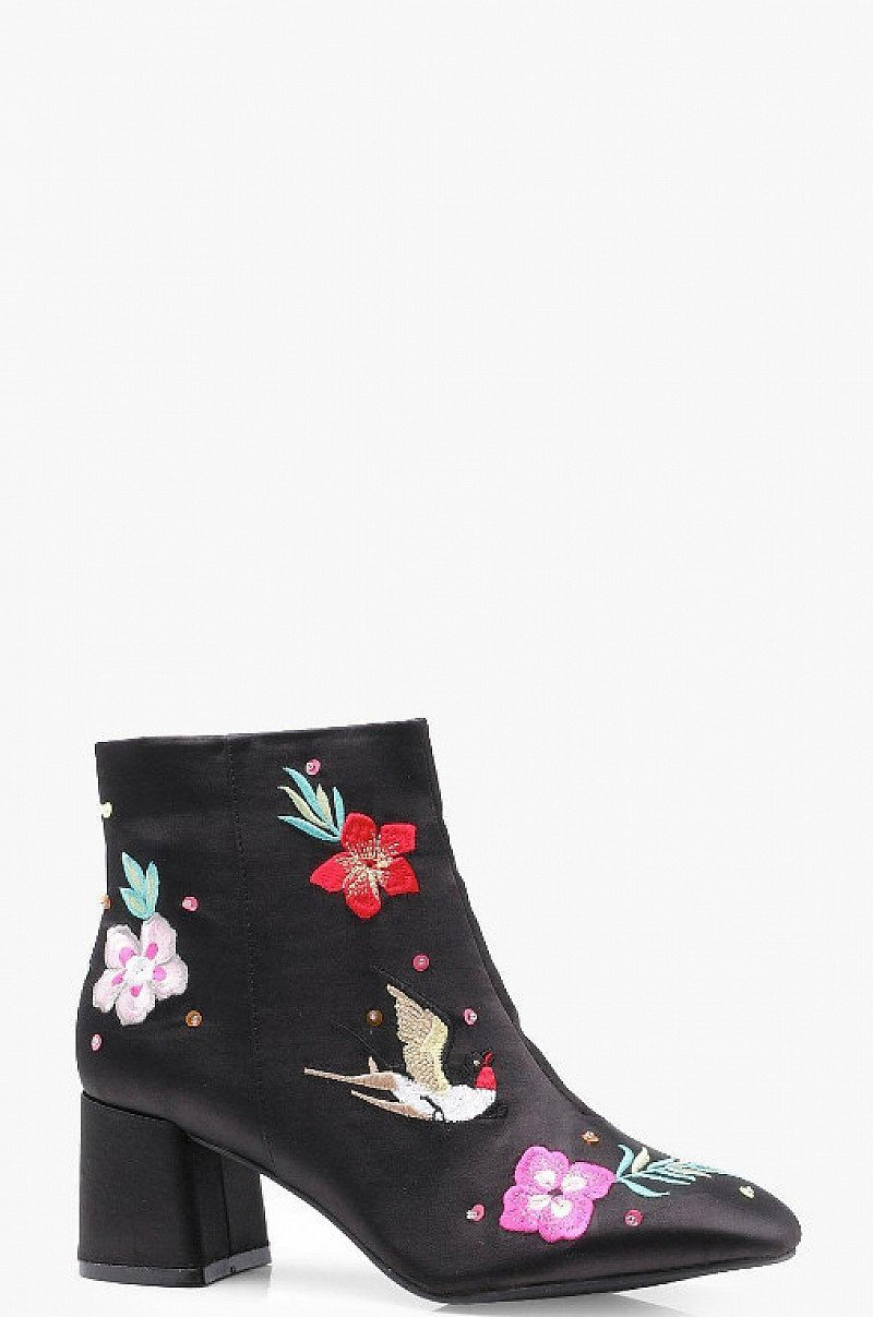 SAVE - Oriental Embroidered Ankle Boots!