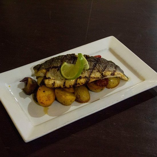 Come try our Scrumptious Sea Bass