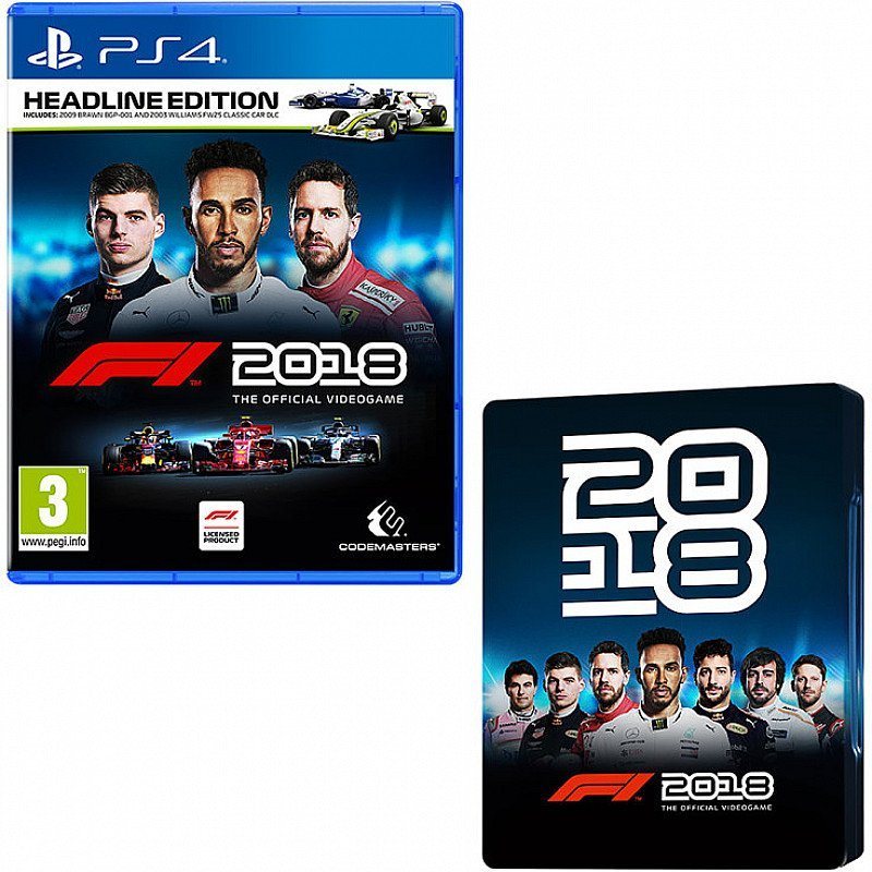 SALE- F1 2018 HEADLINE EDITION - WITH ONLY AT GAME STEELBOOK