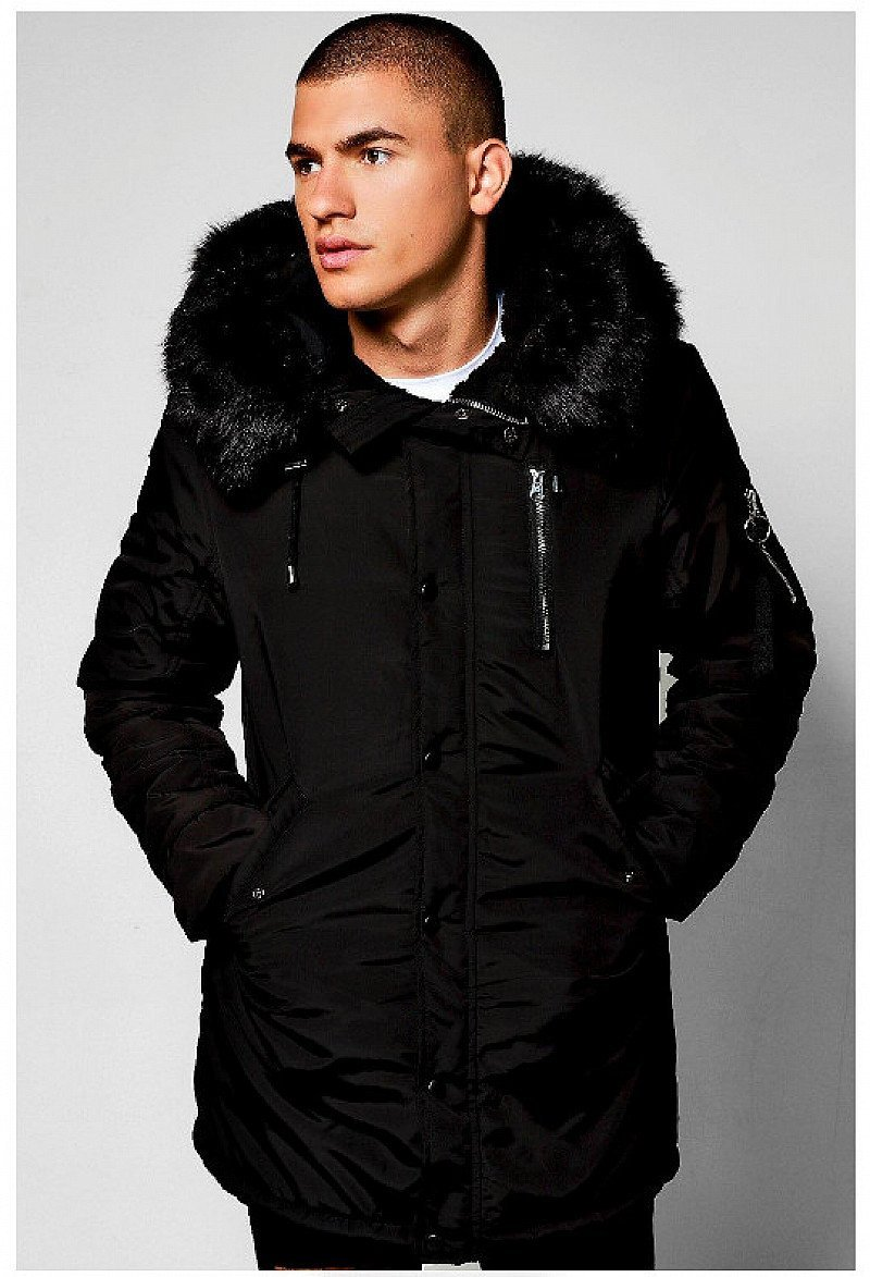 SAVE 20% ON MENSWEAR - MA1 Parka with Faux Fur Hood!