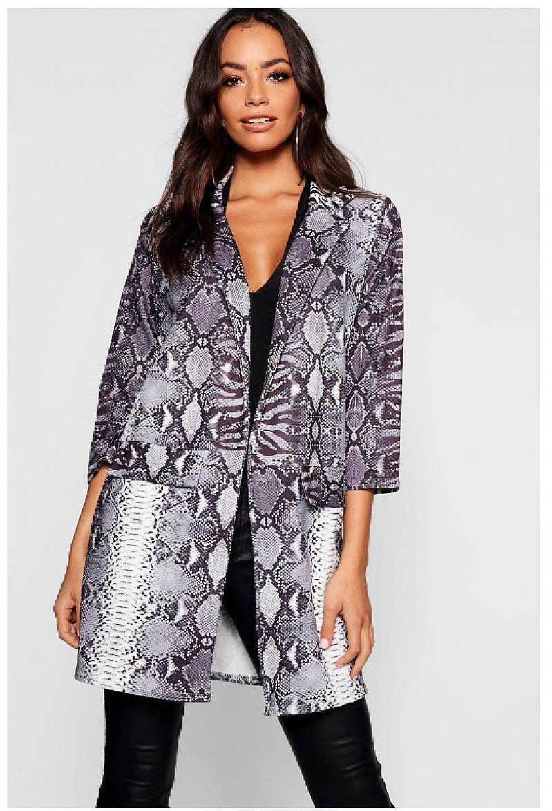 SAVE 30% - Snake Print Duster Jacket!