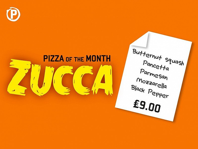 Come and try our pizza of the month