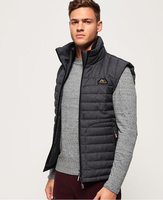 MEN'S OUTERWEAR: Double Zip Tweed Fuji Gilet - £69.99!
