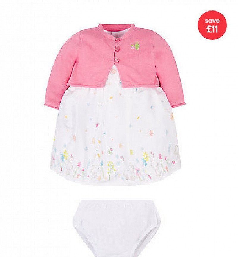 SAVE £11.00 - floral dress and cardigan set!