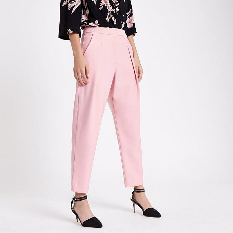 SAVE £21.00 - Pink pleated peg trousers