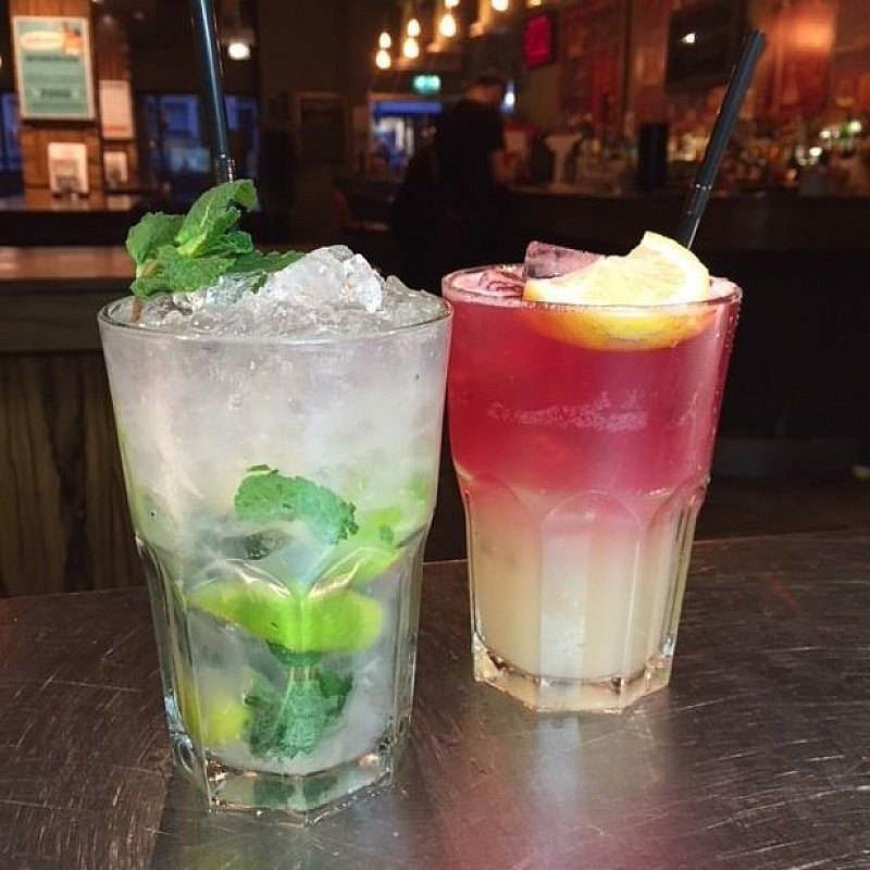 Did you know? We do Mocktails too! Try one of our tasty, zesty coolers instead of adding alcohol!