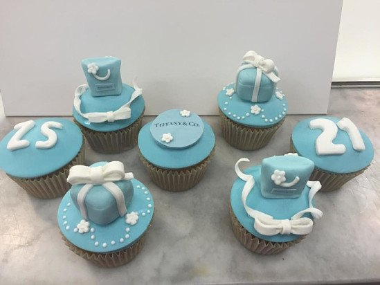 Try our Tiffany & Co cupcakes