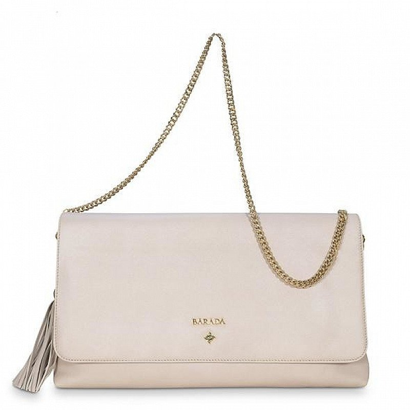 AMATISTA LARGE CLUTCH HANDBAG IN NATURAL SILVER NOW ONLY £75