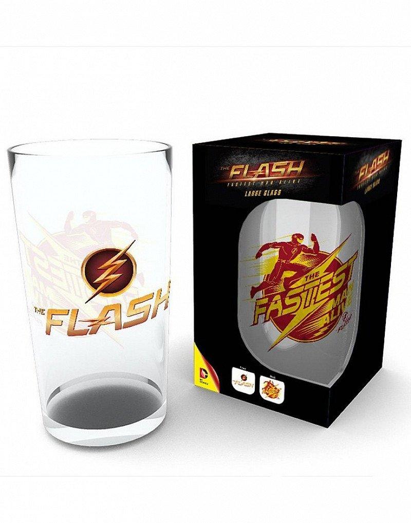 SAVE- THE FLASH LOGO PINT GLASS