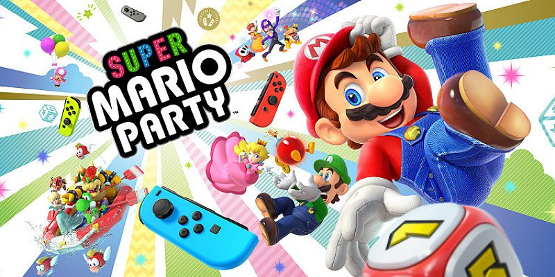 SAVE- NINTENDO SWITCH NEON WITH SUPER MARIO PARTY