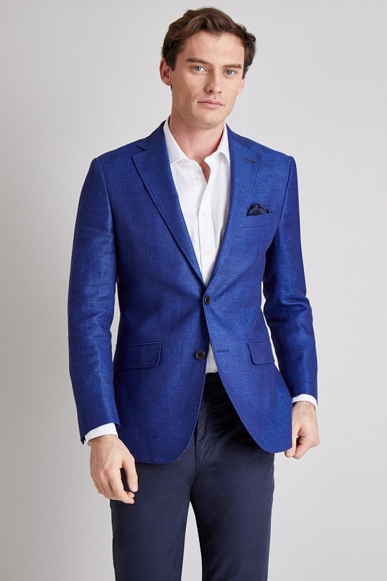 Save on this Moss 1851 Bright Blue Texture Jacket