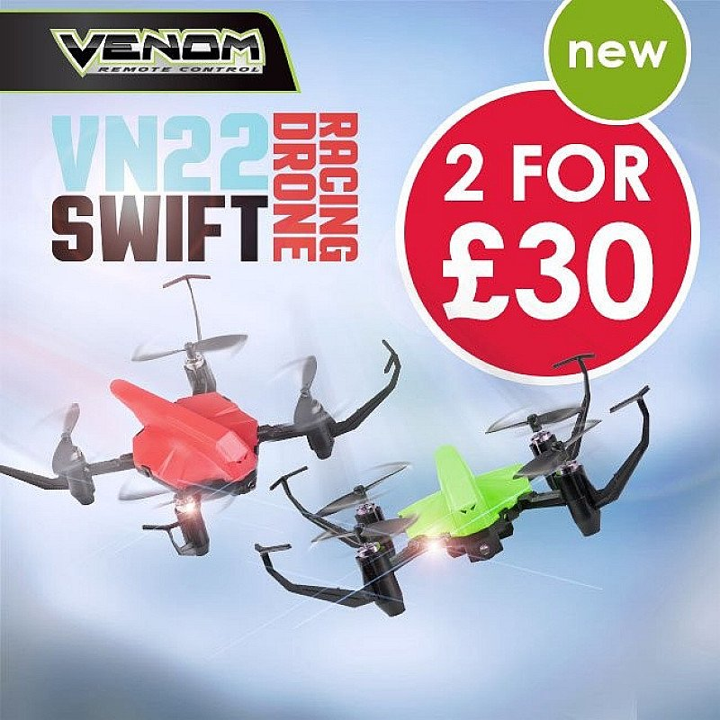 VN22 SWIFT RACING DRONE - NOW 2 FOR £30
