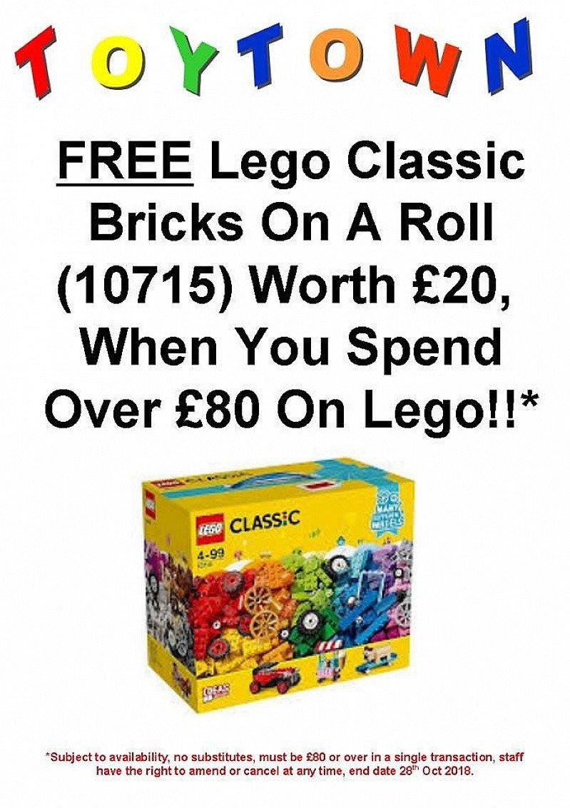 FREE Lego Classic Bricks On A Roll (10715) Worth £20 (10715) Worth £20