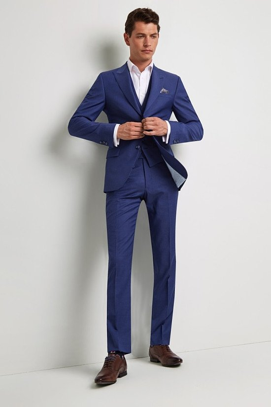 Save- Ted Baker Tailored Fit Iris Blue Twill Suit
