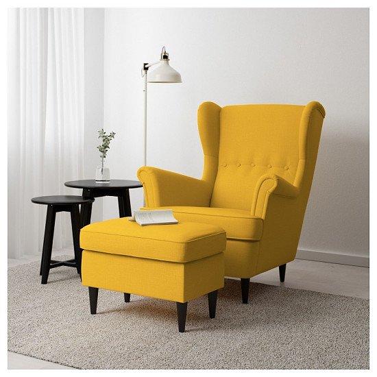 NEW - STRANDMON  Footstool with storage £70.00!