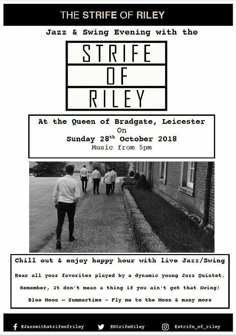 We are excited to be welcoming back the 'Strife of Riley' this Sunday
