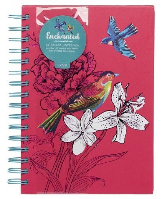 3 FOR 2 on Notebooks and Pads - WHSmith Enchanted Birds Foiled A5 Notebook Journal!