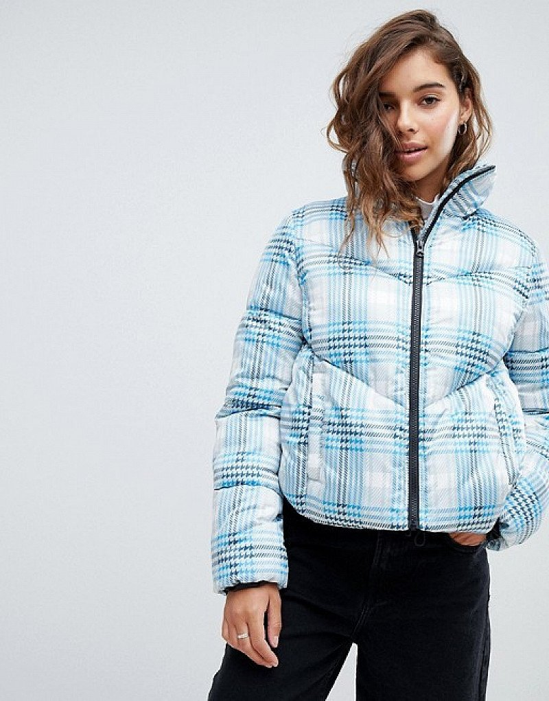 SALE - ASOS DESIGN check puffer jacket!