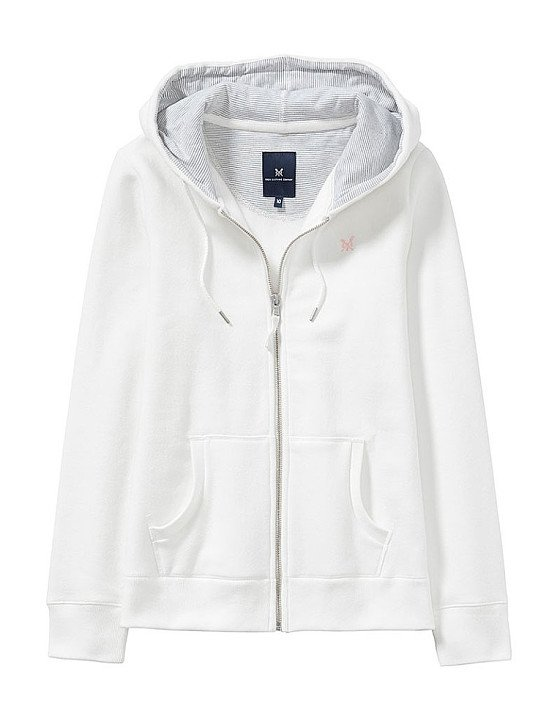 SALE - ZIP THROUGH HOODY IN WHITE LINEN!