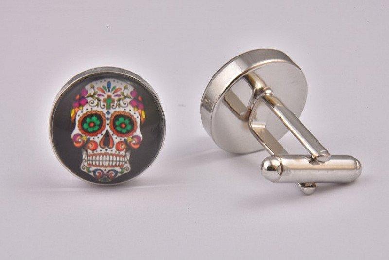 SALE - Mexican Sugar Skull Black Cufflinks!