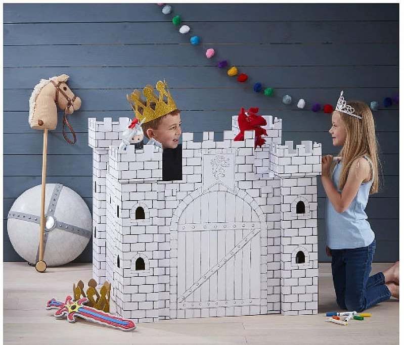 OFFERS FOR HALF TERM - Colour In Cardboard Castle Playhouse!