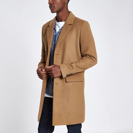 GIFTS FOR HIM - Camel smart overcoat £80.00!