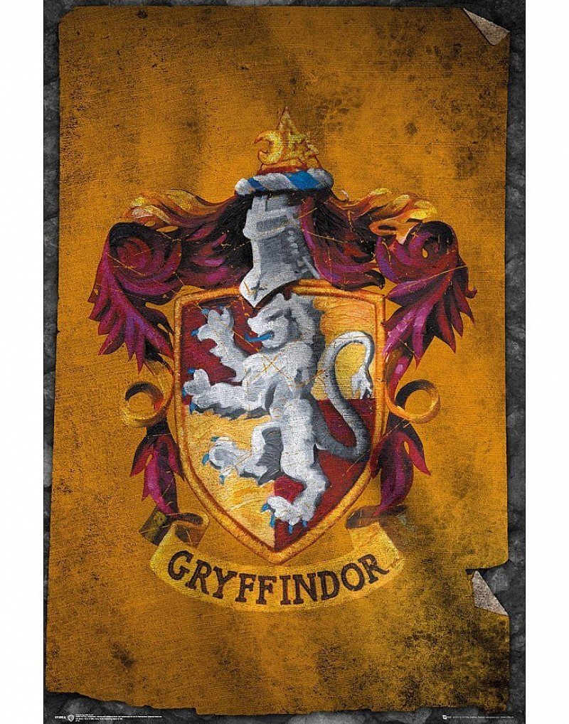 SHOP POSTERS 4 FOR 3 - HARRY POTTER GRYFFINDOR FLAG MAXI POSTER £4.99!