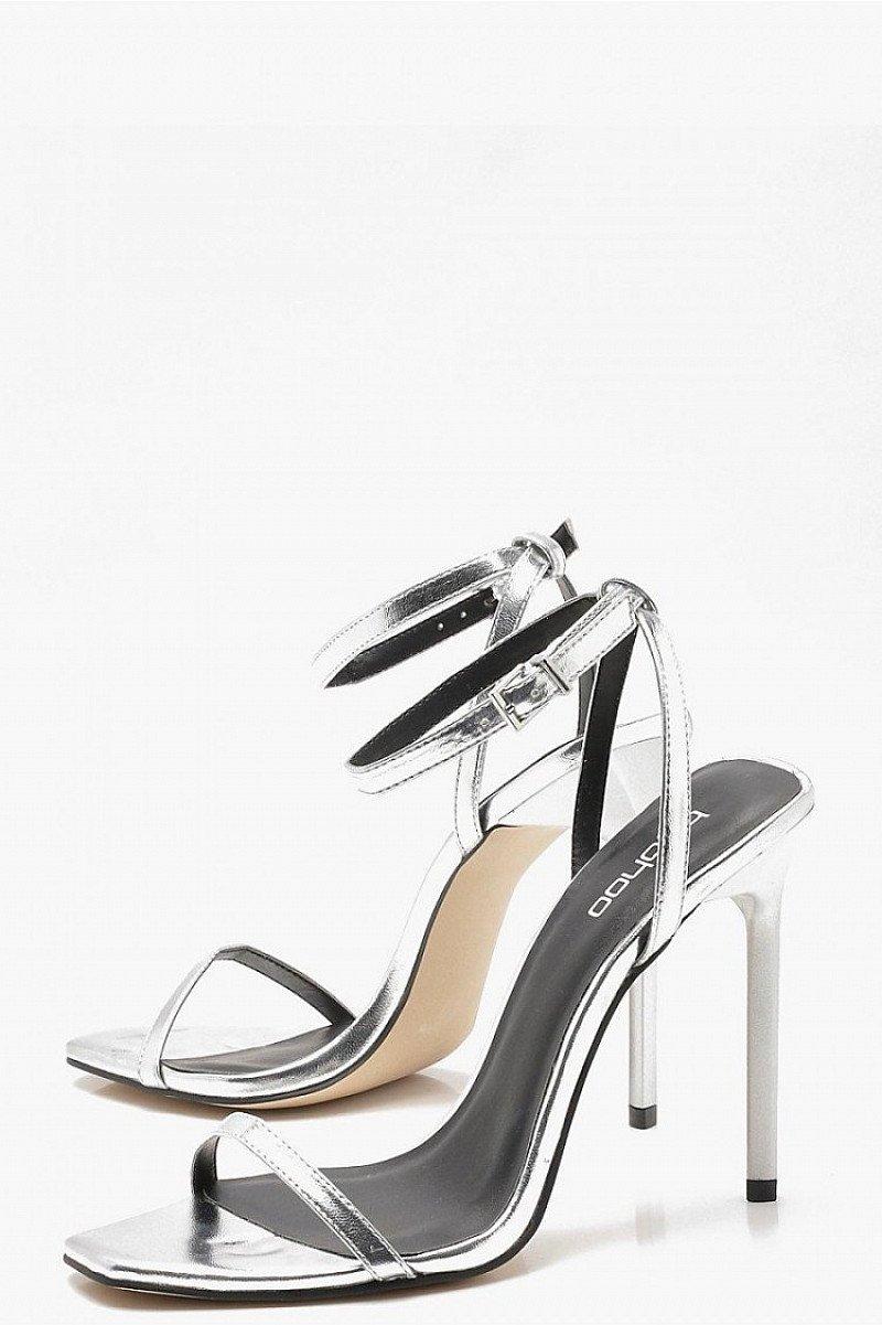 25% OFF - Metallic Square Toe Heels!
