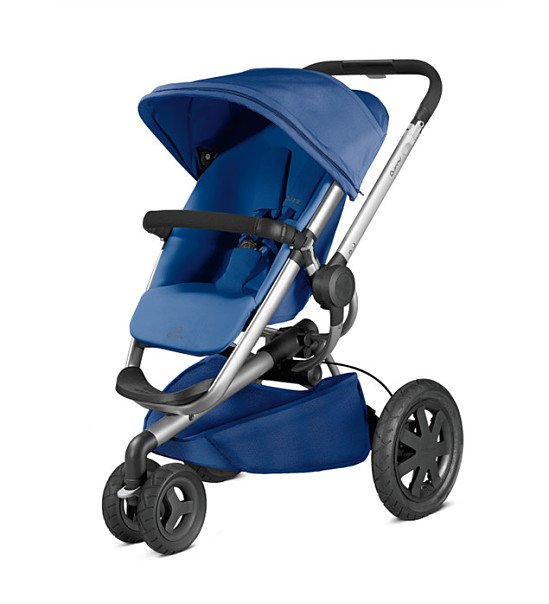 SAVE a Whopping £200.00 - Quinny Buzz Xtra Silver Frame Pushchair - Blue Base!