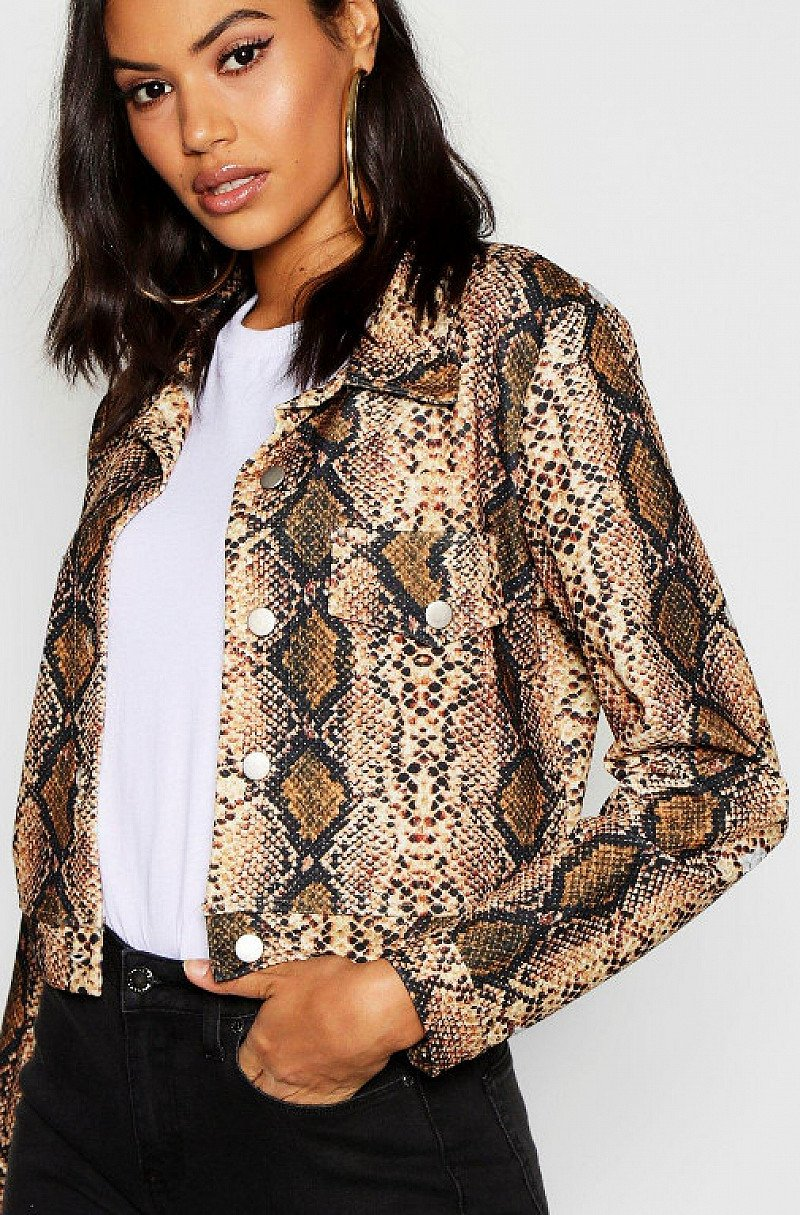 30% OFF - Snake Print Trucker Jacket!